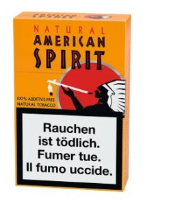 American Spirit Orange Box