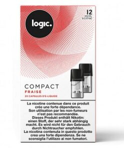 Logic Compact Refill Pack Strawberry 12mg