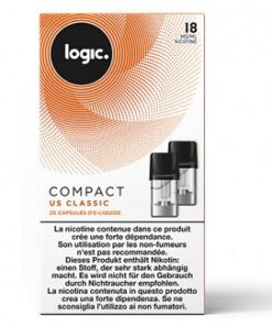 Logic Compact Refill Pack Tobacco 18mg