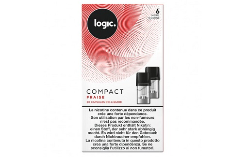 Logic Compact Refill Pack Strawberry 6mg