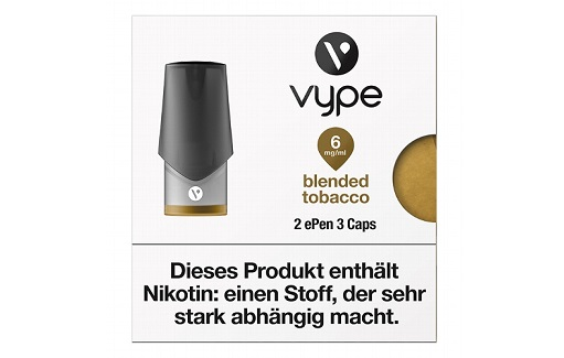 E-Kartusche VYPE ePen3 Caps Blended Tobacco 6mg 2 Caps
